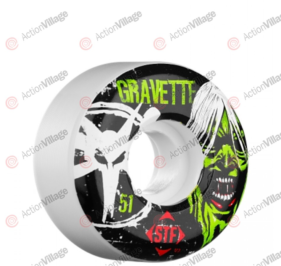 Bones Street Tech Formula Gravette Ghoul - 51mm - White - Skateboard Wheels