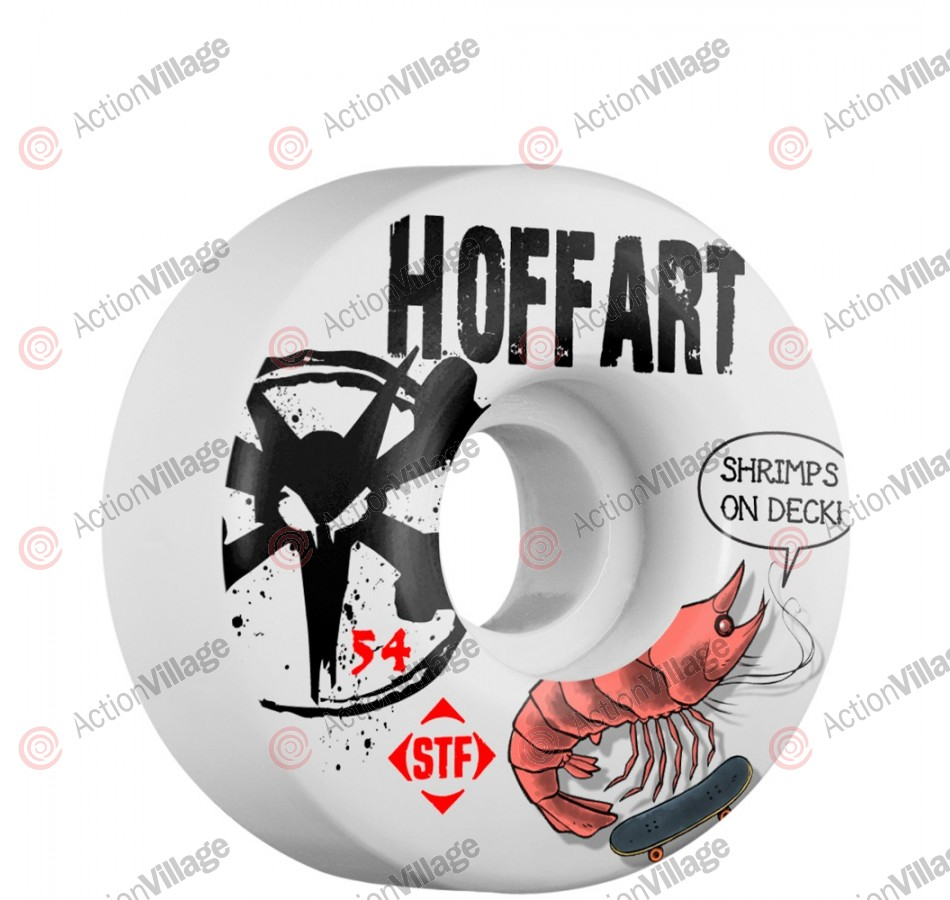 Bones STF Pro Hoffart Shrimp - 54mm - White - Skateboard Wheels