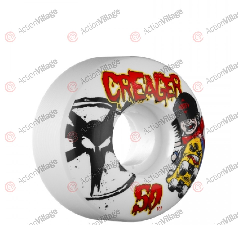 Bones Street Tech Formula Creager Happy SK8 - 50mm - White - Skateboard Wheels