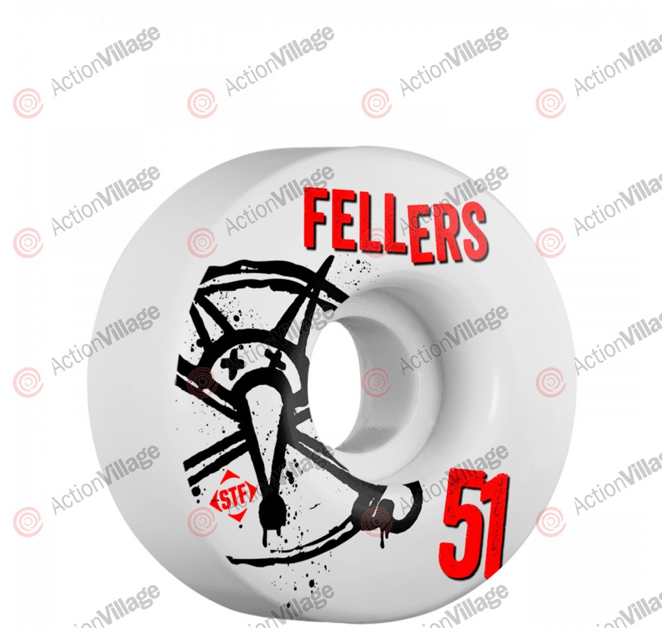 Bones STF Pro Fellers Numbers - 51mm - White - Skateboard Wheels