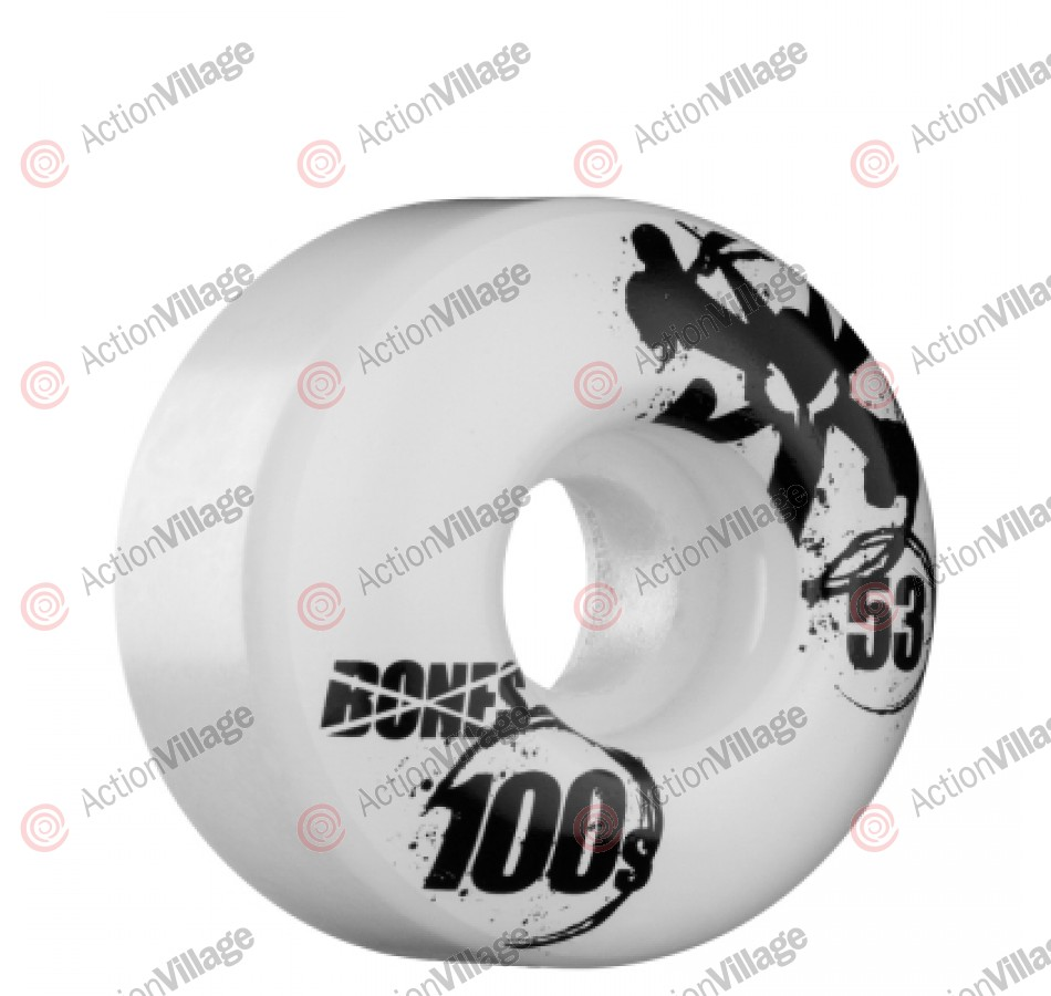 Bones O.G. Formula 100 - 53mm - White - Skateboard Wheels