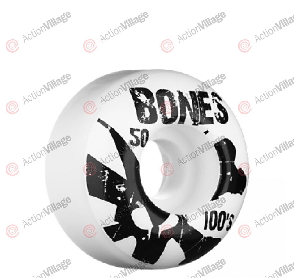 Bones O.G. Formula Natural 100 - 50mm - White - Skateboard Wheels