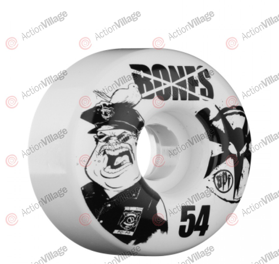 Bones Skate Park Formula Popo - 54mm - White - Skateboard Wheels