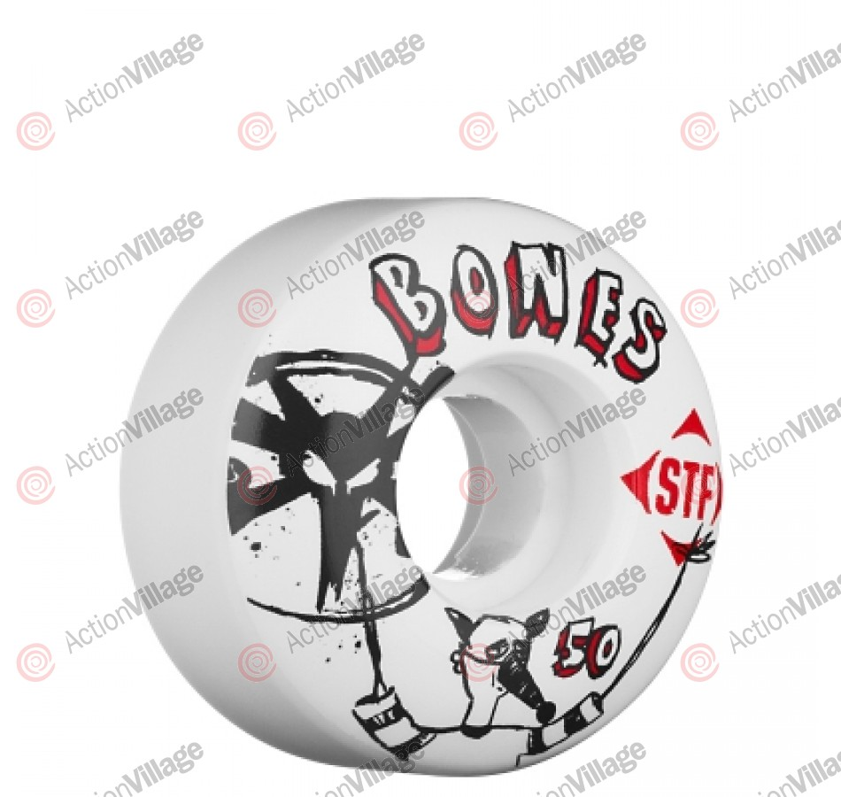 Bones Street Tech Formula Los Otros - 50mm - White - Skateboard Wheels