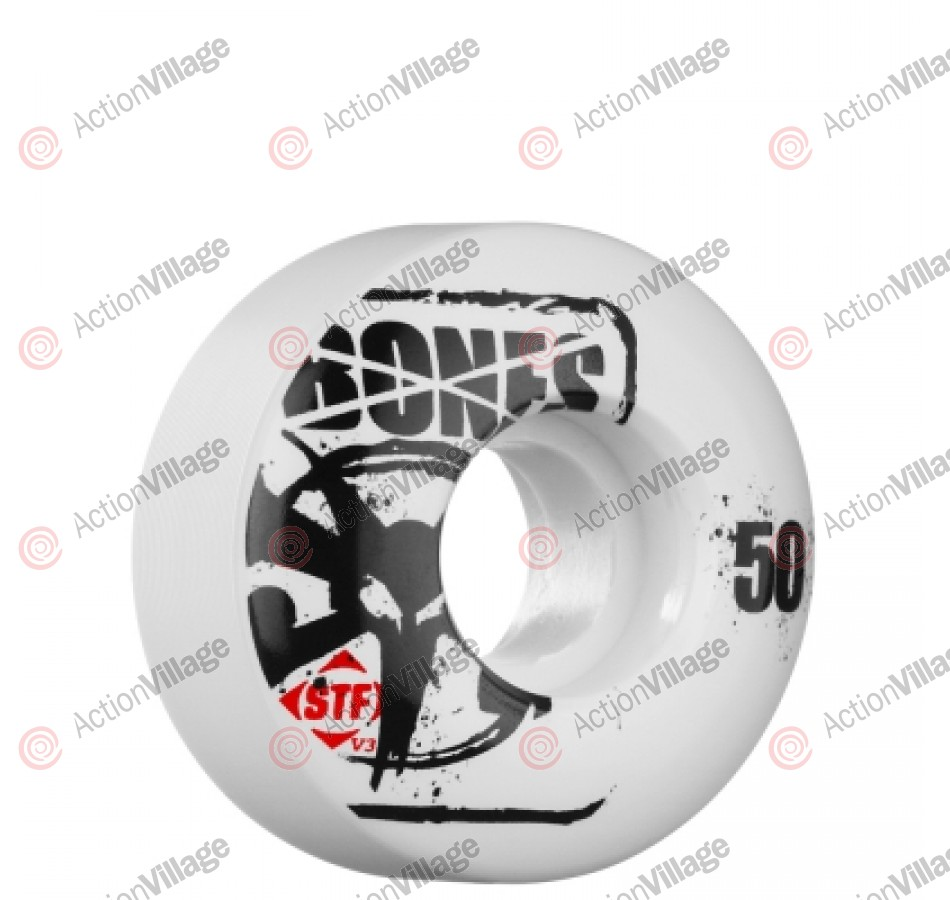 Bones Street Tech Formula Slim - 50mm - White - Skateboard Wheels