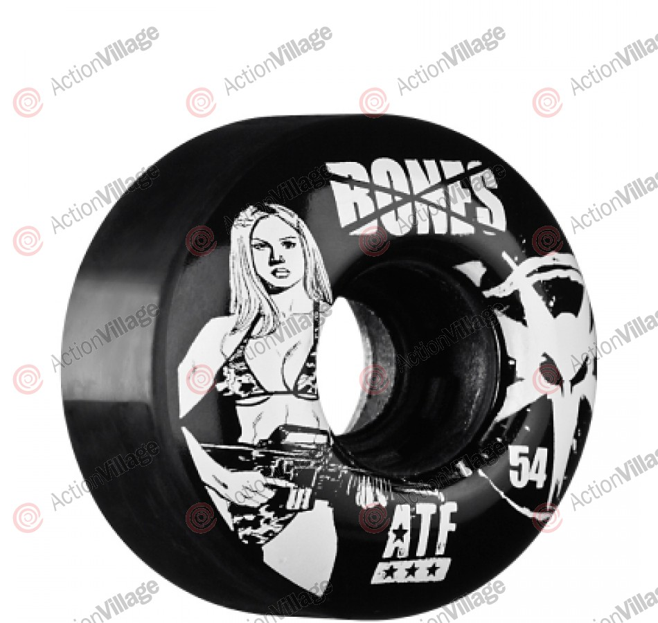 Bones All Terrain Formula Bikini Girl - 54mm - Black - Skateboard Wheels