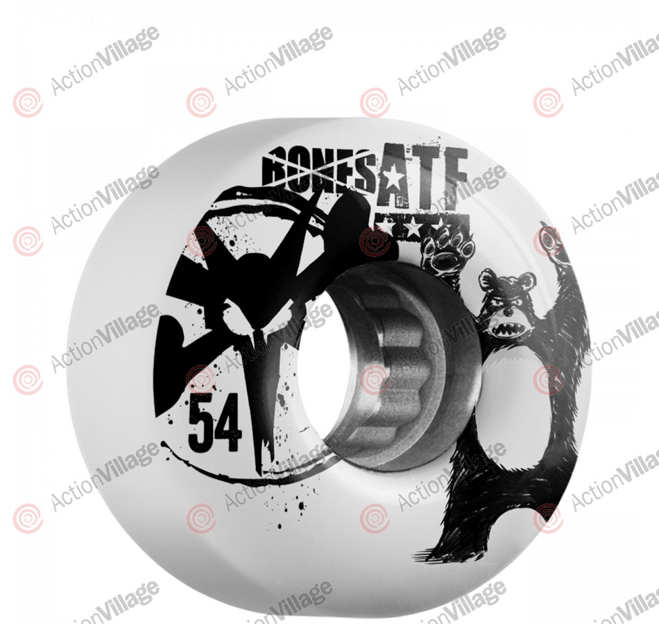 Bones ATF Da Bear - 54mm - White - Skateboard Wheels