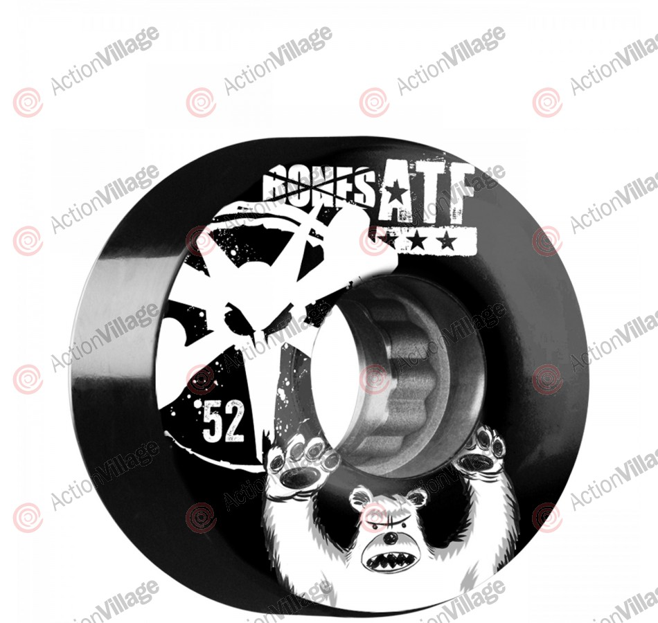 Bones ATF Po Bear - 52mm - Black - Skateboard Wheels