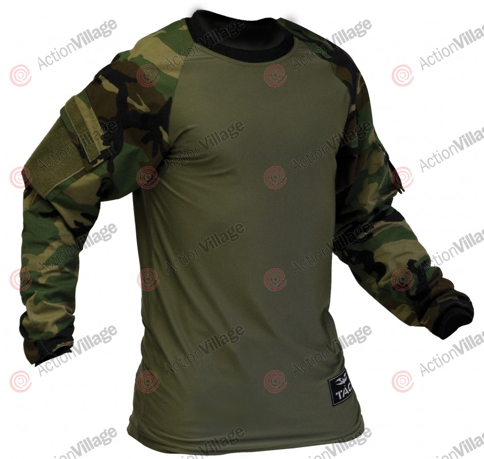 Valken V-Tac Zulu Paintball Jersey - Woodland