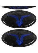 Empire Vents Mask Logo Set & Retainers - Blue