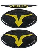 Empire Vents Mask Logo Set & Retainers - Yellow