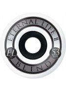Blind Silver Ring EL Wheel - Black/White - 53 - Skateboard Wheels