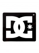 DC Men's Star Sticker - 5 Inch - Black - Sticker