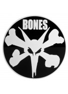 "Bones 12"" Ramp Circle Sticker - Black/White - Sticker"