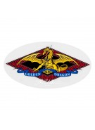 Powell Golden Dragon Sticker - White - Sticker