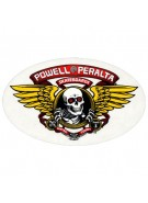 Powell Peralta Winged Ripper Sticker - White - Sticker