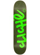 Cliche Handwritten R7 - Forest Green/Fluorescent - 8.25 - Skateboard Deck