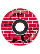 Enjoi Street Art Premium Wheel - Red - 52mm - Skateboard Wheels