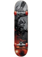 Darkstar Blast First Push Mid - Red - 7.3 - Youth Complete Skateboard