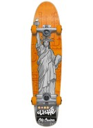 Cliche Statue of Liberty Cruiser - Grey / Orange - 32 - Complete Skateboard