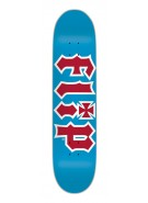 Flip Team HKD - 31.8in x 7.875in - Light Blue/Red - Skateboard Deck