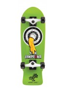 Santa Cruz Simpsons Homer One Micro Cruzer - 8.3in x 26in - Green - Complete Skateboard