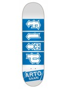 Flip Saari Ground Floor - 32in x 8.13in - White/Blue - Skateboard Deck