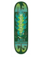 Creature Heddings Burnside - 31.75in x 8.0in - Green - Skateboard Deck