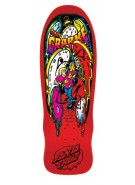 Santa Cruz Grabke Melting Clocks Reissue - 29.4in x 9.7in - Red - Skateboard Deck