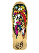 Santa Cruz Grabke Melting Clocks Reissue - 29.4in x 9.7in - Natural - Skateboard Deck