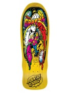 Santa Cruz Grabke Melting Clocks Reissue - 29.4in x 9.7in - Yellow - Skateboard Deck