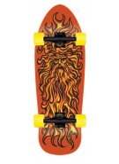 Santa Cruz Jessee Sun God Reissue Cruzer - 9.9in x 29.7in - Orange - Complete Skateboard