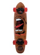 Santa Cruz Sidewalk Screamer Cruzer - 6.4in x 25.3in - Brown - Complete Skateboard