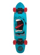Santa Cruz Sidewalk Screamer Cruzer - 6.4in x 25.3in - Blue - Complete Skateboard