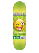 Flip Boulala Emoji - 32.31in x 8.25in - Green - Skateboard Deck