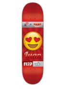 Flip Oliveira Emoji - 32.2in x 8.0in - Red - Skateboard Deck