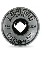 Darkstar Lightning (Set of 4) - 52mm - Black / Grey - Skateboard Wheels