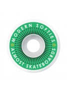 Almost Plastered Dual Durometer (Set of 4) - 54mm - Green - Skateboard Wheels