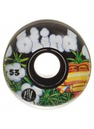 Blind Snake in the Grass EL Wheel - Black/Black - 53mm - Skateboard Wheels