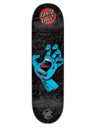 Santa Cruz Screaming Hand Black n Blue Powerply - 31.5in x 7.6in - Skateboard Deck