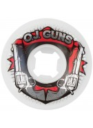 OJ 60 mm Guns White 99a - Skateboard Wheels