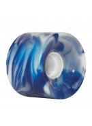 OJ 60 mm Hot Juice Blue White Swirls 78a - Skateboard Wheels