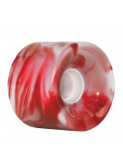 OJ 60 mm Hot Juice Red White Swirls 78a - Skateboard Wheels