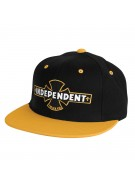 Independent Painted B/C Adjustable Starter Hat - One Size Fits All - Black/Yellow - Men's Hat