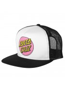 Santa Cruz Other Dot Trucker Mesh - One Size Fits All - White/Black - Hat