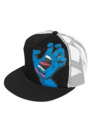 Santa Cruz Screaming Hand Trucker Mesh Hat - One Size Fits All - Black/White