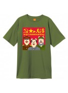 Enjoi Communist Pigs S/S Tee - Military Green - T-Shirt