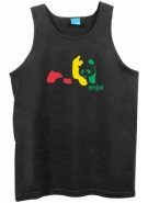Enjoi Rasta Panda Tank Top - Black - T-Shirt