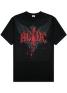 AC/DC Wings Logo - Black - Band T-Shirt