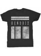 Jimi Hendrix White Bars - Black/White - Band T-Shirt